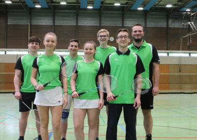 2. Mannschaft (vlnr): Nico Bernhard, Chiara Bachthaler, Luca Metzger, Melina Metzger, Julian Hilpisch, Maximilian Trautmann, Kevin Klaus