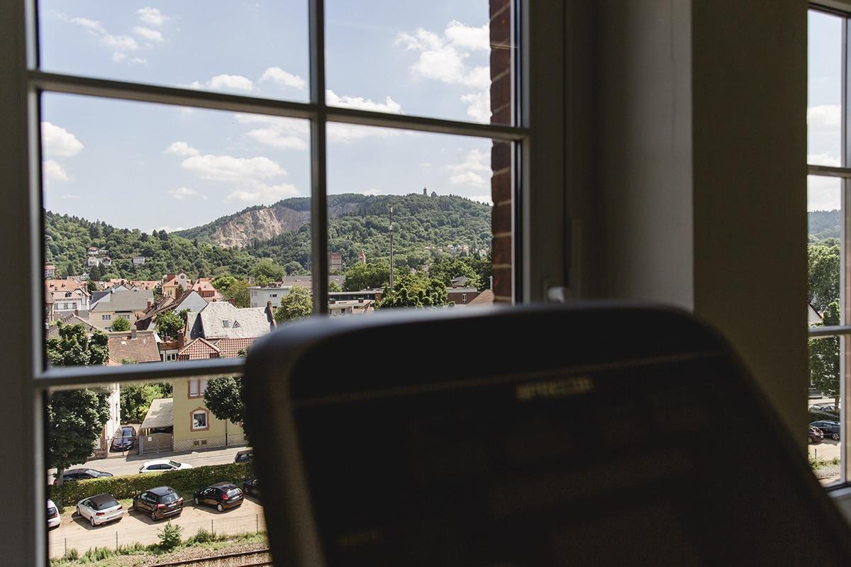 Ausdauertraining mit Blick auf die Weinheimer Burgen.