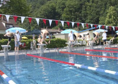 Wettkampf im TSG-Waldschwimmbad
