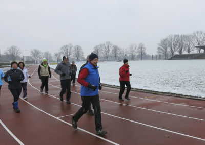 Das Training findet das ganze Jahr im Freien statt.
