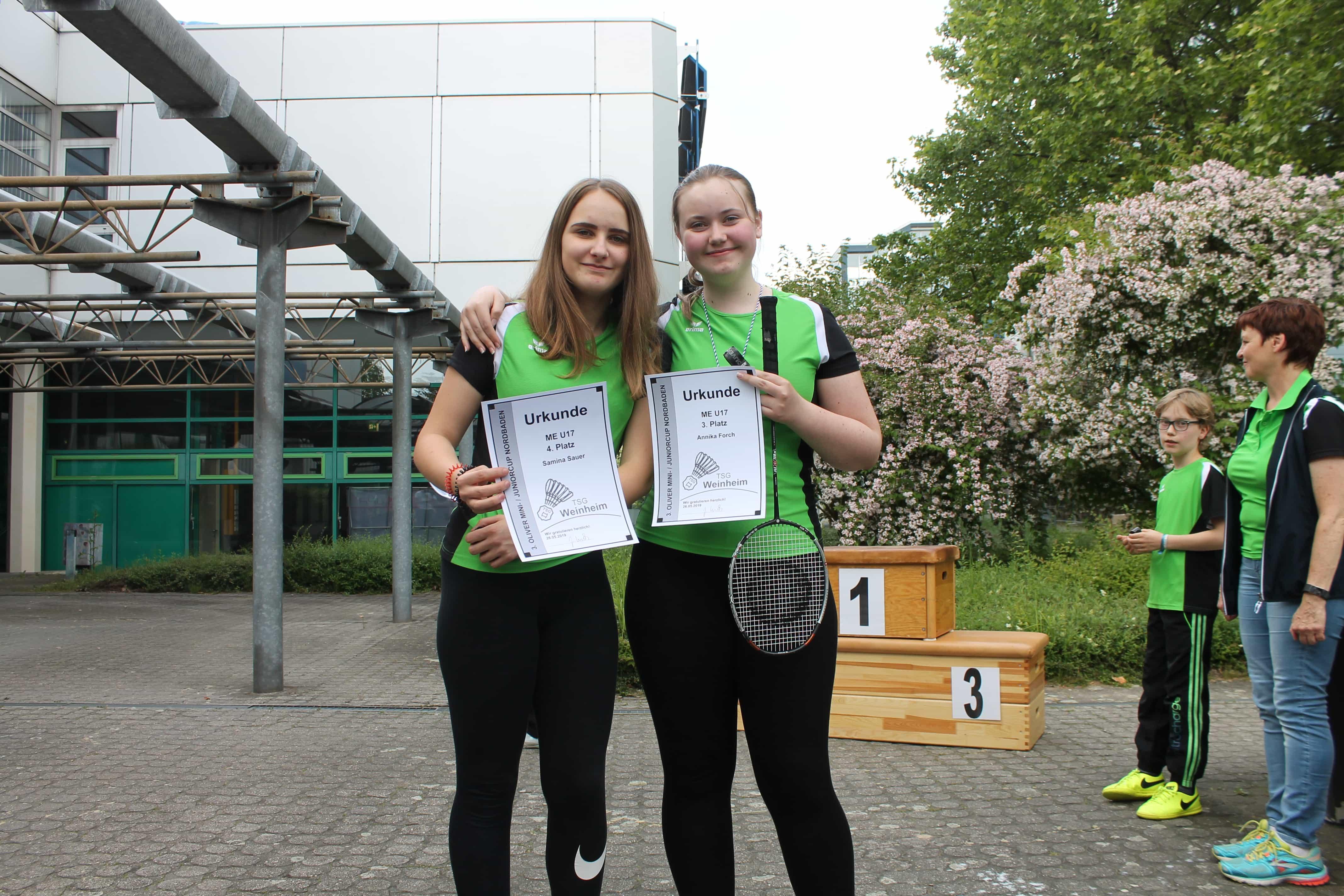 Samina Sauer und Annika Forsch