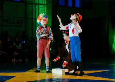 Jahresabschlussfeier der Kindersportschule - Auftritt der Profilgruppe Zirkus.
