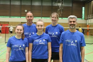 Trainerteam von links nach rechts: Melina Metzger, Friedhelm Erben, Chiara Bachthaler, Vera Falkenstein, Fahed Oudischo.