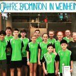 1x Gold, 3x Silber und 1x Bronze lautete das Endergebnis für Weinheim.