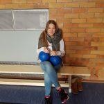 Maxi Hördt ist die erste FSJ'lerin im Bereich Sport und Schule in Weinheim.